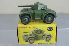 VINTAGE DINKY TOYS MODEL No 670    ARMOURED  CAR     VN  MIB