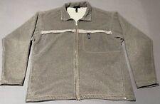 Vintage PATAGONIA SYNCHILLA Zip Up Fleece Jacket Sweater Men's XL Brown USA Made