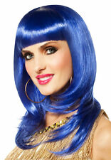 BRAND NEW Rave Pop Star Katy Perry DELUXE ADULT BOLD BLUE SO FINE WIG W/ BANGS