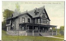 Sigma Alpha Epsilon House Allegheny College MEADVILLE PA Antique PM1911 Postcard
