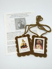 Brown Prayer Scapular Our Lady of Mount Carmel Religious Gift Christianity