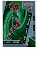 2019-20 Panini Prizm Romeo Langford Instant Impact Silver RC Rookie Celtics #11