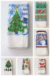 New Arrival 3 Pack Microfiber Christmas Printed Tea Towels