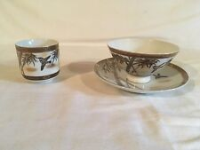 Kutani Bowl, Cup, and Saucer Made in Japan