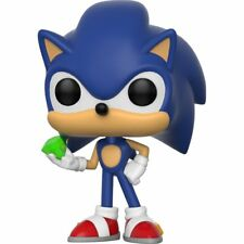 FLAWED BOX Sonic the Hedgehog Sonic with Emerald POP! Vinyl Figure FUNKO