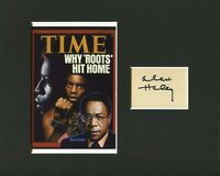 Alex Haley Roots Autobiography Malcolm X Author Signed Autograph Photo Display