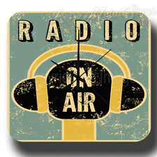 RADIO ON AIR VINTAGE RETRO METAL TIN SIGN STYLE WALL CLOCK