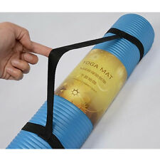1x Yoga Mat Sling Carrier Shoulder Convenient Carry Strap Black Belt Yoga Tool