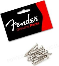 FENDER VINTAGE STRATOCASTER GUITAR BRIDGE MOUNTING SCREWS NICKEL(12) *NEW*
