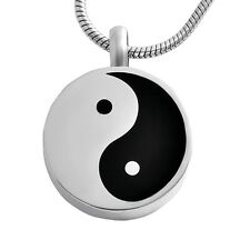 Round Ying Yang Cremation Ashes Pendant Design 73