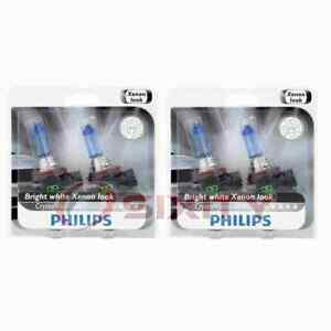 2 pc Philips Front Fog Light Bulbs for Pontiac G4 G5 G6 Grand Prix Pursuit tr