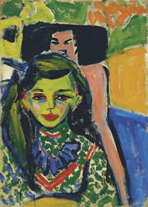 Ernst Kirchner Collection before geschnitztem chair Giclee Paper Print Poster