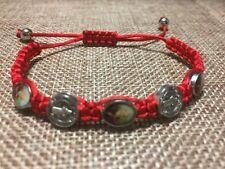 Pulsera Roja De La Medalla De San Benito,St Benedict Medal Bracelet Ajustable A1