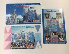 Tokyo Disneyland Vintage Phone Cards Used Lot Of 3 - (7224)