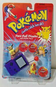 1999 Hasbro Kenner Pokemon POKE- BALL BLASTER Battle Discs Raichu Eevee Pidgeot