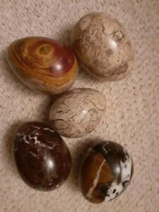 POLISHED STONE/MARBLE EGGS.