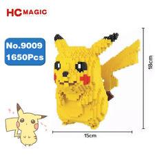 HC 9009 Pokemon Pikachu Yellow Monster Diamond Mini DIY Building Nano Blocks Toy
