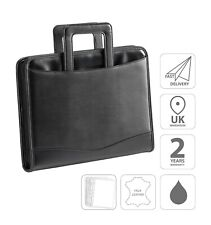 Conference Folder A4 Ring Binder With Drop Handles and 10 Sleeves Black FI6669