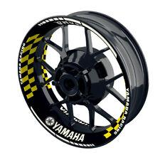 Felgenaufkleber Motorrad Felgenrandaufkleber Wheelsticker Yamaha Grid gelb - S
