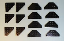 Lego Parts 2419 30503 Black 3x6 4x4 Wedge Plate Cut Corners  LOT 14 #LX288