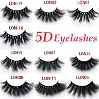 New Real 5D Mink Fur 25mm False Eyelashes Thick Long Cross Eye Lashes Extension