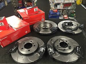 BMW 330i 330Ci 330D E46 BREMBO DRILLED BRAKE DISC & PADS WITH SENSOR FRONT REAR