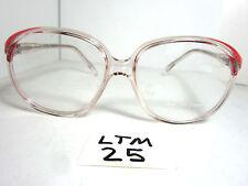 Vtg GINO DA DEPPO by Viva Oversize Sun Eyeglass Frame S-11 Red/Clear (LTM-25)