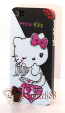 for iphone 5 5s hello kitty hard case cover black white pink + screen protector
