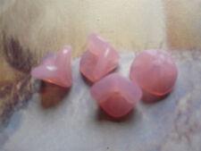 GLASPERLEN – traumhafte GLOCKEN in rosee wie Rosenquarz 8 x 12 mm (5) Engel