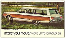 1968 Chrysler Town & Country Station Wagon Vintage NOS Original Dealer Promo PC