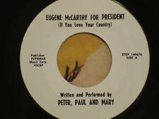 Peter Paul & Mary Rare Eugene McCarthy for President 45 1968
