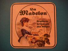 Beer Bar Coaster ~ Brasserie Artisanale des Vosges La Madelon English Brown Ale