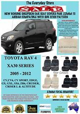 Toyota RAV4 2005-2012 Genuine Sheepskin Car Seat Covers Pair 22MM TC Arbag Safe