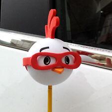 Cute Red Glasses Chicken Antenna Balls Car Aerial Ball Antenna Topper Decor Ball