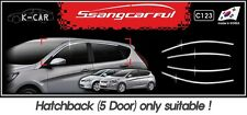 Window Frame Molding Chrome Silver C123 for Hyundai ACCENT 5DR Hatchback 2011~17