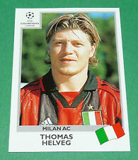 N°298 THOMAS HELVEG MILAN AC ITALIA PANINI FOOTBALL CHAMPIONS LEAGUE 1999-2000