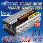 Large Shell Pure Sine Wave Power Inverter 1000W/2000W 12V-240V + USA Transistor