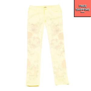 VINGINO Jeans Size 16Y Stretch Garment Dye Floral Pattern Zip Fly