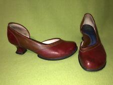 Red & Brown John Fluevog Wearever Arigato Heels 7.5