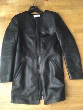 Veste longue cuir Zapa noire T36 neuve