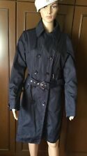 Spring Cloak  ADHOC  Woman size 46, dark blue color, with three pockets Mantello