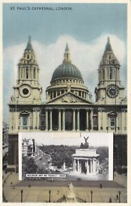 EPC912) PC St Paul's Cathedral, London, has a cascade of pictures of many London