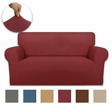 SLIPCOVER SOFA LOVESEAT CHAIR FURNITURE COVER, BURGUNDY WASHABLE PROTECTOR