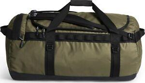 The North Face Mens - Base Camp Duffel LARGE bag backpack -Burnt Olive/TNF Black