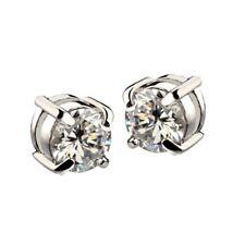 1X(1 Paar Strass Magnet Ohrringe Herren Ohrschmuck Weiss  L3Q5)