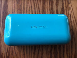 TIFFANY & Co. Eyeglasses Sunglasses Hard Blue Case Authentic