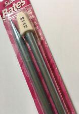 Susan Bates Silvalume Single Point Knitting Needles US 13 14-inch Blue Aluminum