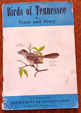 Antique 1940 Birds of Tennessee Birdwatching Bird Book Poems Bluebird Birdhouse