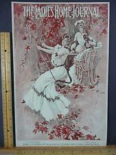 Rare Antique Original VTG 1903 Ladies Home Journal Swinging Cover Only Art Print