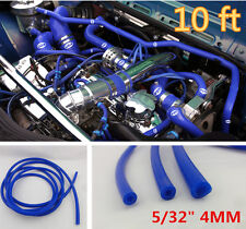 "Blue 5/32"" 4mm Vacuum Silicone Hose Turbo Intercooler Coupler Pipe Turbo-10 feet"